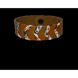 Bracelet femme en cuir camel